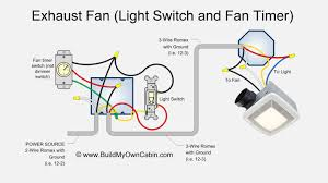 wiring bath exhaust fan with light