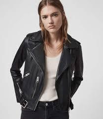 balfern leather biker jacket black