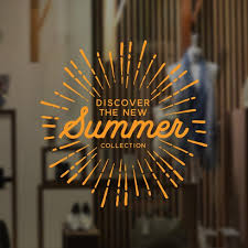 Summer Collection Sun Window Sign Removable Vinyl Decal Etsy