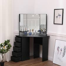 dressing table makeup desk w 5 drawers