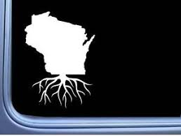 Wisconsin Roots M255 6 Inch Sticker Home State Decal Ebay