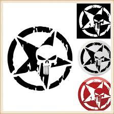 13cm The Punisher Skull Car Sticker Pentagram Vinyl Decals Motorcycle Accessories 1pcs 13cm Wish