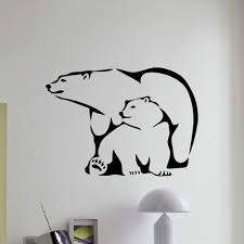 Shop Polar Bear And Cub Wall Art Sticker Decal Overstock 11179960