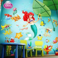 15 Magical Disney Inspired Bedrooms Alphadorable Custom Nursery Art And Decor Little Mermaid Nursery Mermaid Wall Decals Mermaid Nursery