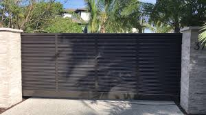 Aluminum Privacy Louvered Driveway Gate Youtube