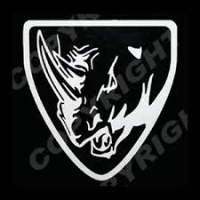 Yamaha Rhino Head With Shield Vinyl Decal Sticker Outline 1 Silver Ebay
