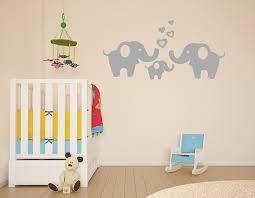 Elephant Family Wall Decal Removable Vinyl Wall Art Elephant Wall Decorative Unisex Sticker Baby Nursery Wall Decor Anber