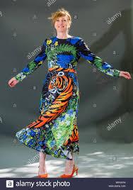 Polly Clark, author & poet, wings her tiger dress, Edinburgh ...