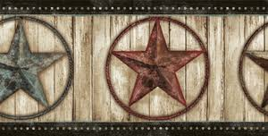 weathered barn star wallpaper border