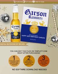 Corona Editable Label Imprimibles Y Editables Cervezas