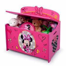 Disney Minnie Mouse Deluxe Wood Toy Box By Delta Children Walmart Com Walmart Com