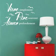 French Wall Decals Quote Inspiration Live Love Laught Bed Room Living Room Home Decor Custom Wall Decal Custom Wall Decals From Livelovelaught 4 02 Dhgate Com