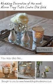mirror tray wedding table decorations