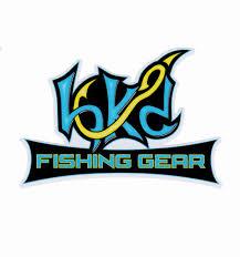 Window Decal Hk D Fishing Gear Logo Blue Yellow White Black Spur Brand