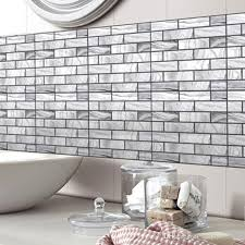 Grey White 3d Stereo Simulation Brick Wall Stickers Diy Living Room Bathroom Bedroom Kitchen Tile Decor Self Adhesive Wallpaper Poster Art Decor Decals Decor Designs Wall Decals From Magicforwall 2 37 Dhgate Com