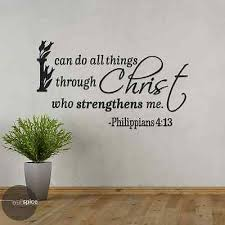 Philippians 4 13 I Can Do All Things Through Christ Vinyl Wall Decal Sticker Ebay