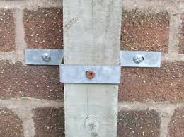Gate Wood Post Fixing 4x2 Inch 100x50mm Only To Wall With Free Thunderbolts Ebay