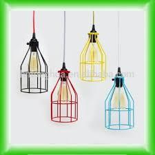cage pendant light hanging edison bare