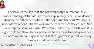 derek prince quote about church worship nature soul all