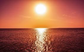 تحميل خلفيات المناظر البحرية البحر غروب الشمس موجات البرتقالي