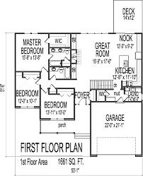 house floor plans 3 bedroom 1 story