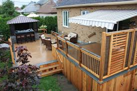 Wood Privacy Deck Railing Oscarsplace Furniture Ideas Good Privacy Deck Railing Options
