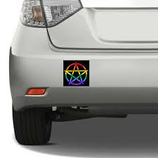 Pride Pentagram Square Bumper Sticker Car Decal Wicca Lgbtq Gay Lesbian Asexual 3 99 Picclick