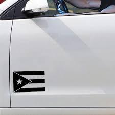 Black Puerto Rico Flag Vinyl Car Sticker Puerto Rico Factory