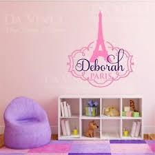 Paris Eiffel Tower Love Girl Custom Name Wall Personalized Vinyl Sticker Decal C Ebay
