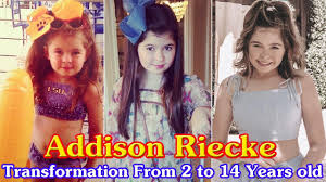 Addison Riecke transformation from 2 to 14 years old - YouTube