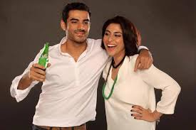 Meesha Shafi & Adeel Hussain Photoshoot For The Sprite Ad