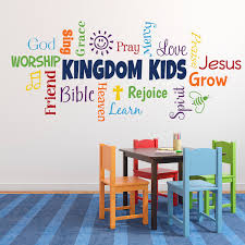 Kingdom Kids Word Collage Vinyl Wall Decal Sunday School Church