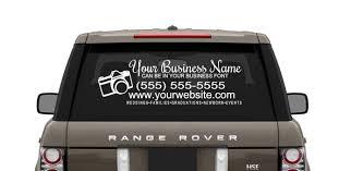 Custom Your Logo Your Website Car Decal Ad Photography Photographer Business Advertisement Custom You Pick Color Custom Website Ad Photography Stickers Custom