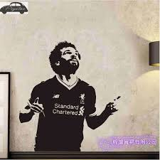 Mohamed Salah Football Player Wall Sticker Sports Decal Kids Room Decoration Posters Vinyl Salah Car Soccer Player Decal Wall Stickers Aliexpress