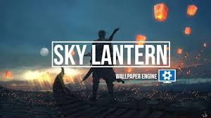 sky lantern wallpaper engine you