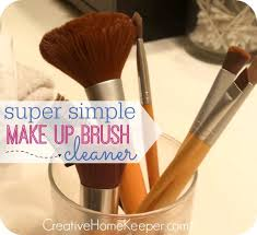 super simple makeup brush cleaner