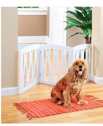 Zoogamo 3 Panel White Wooden Waves Design Pet Gate Freestanding Tri Fold Durable Wooden Dog Fence Indoor Outdoor Barrier For Stairs Doorways Buy Online In Belize Zoogamo Products