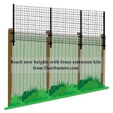 How To Use Fence Extension Kits Deer Fence Diy Garden Fence Fence Height Extension