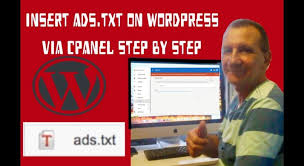 ads txt to wordpress via cpanel