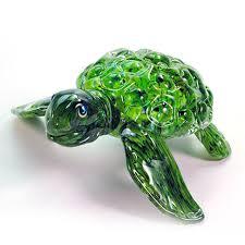 hopko art glass sea turtle