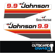 Johnson 9 9hp Seahorse Decals Outboardgraphics Com