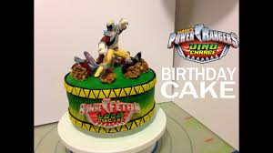 Power Rangers Dino Charge Personalized Birthday Cake Idea And Tutorial Gateau D Anniversaire Youtube