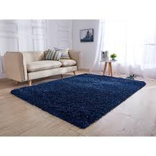 hand tufted navy blue area rug