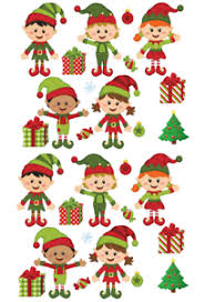 Christmas Elves And Presents Stand Up Cake Cupcake Toppers Edible Wafer  Paper | eBay