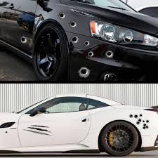 Personality Bullet Holes 3d Decal Simulation Bullet Holes Car Stickers Waterproof Vinyl Decals Wish