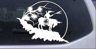 Native American Indian On Horse Desert Scene Car Or Truck Window Decal Sticker Rad Dezigns