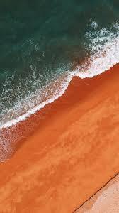 aerial view sea waves wallpaper