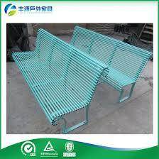 china outdoor steel garden bench