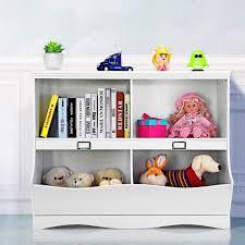 Gymax Children Storage Unit Kids Bookshelf Bookcase Baby Toy Organizer Shelf White Walmart Com Walmart Com