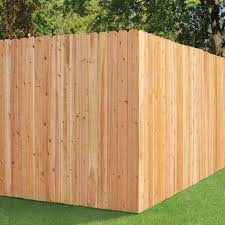 Unbranded 6 Ft H X 8 Ft W Cedar Dog Ear Fence Panel 47466 The Home Depot